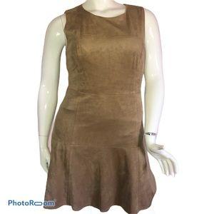 Alfani faux suede sleeveless dress